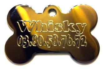 Médaille chien os fumé