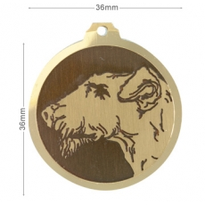 medaille chien airdale terrier