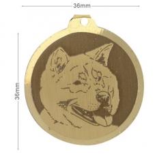 medaille chien akita