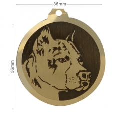 medaille chien american staffordshire