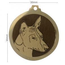 medaille chien basenji