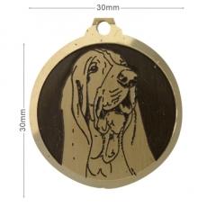medaille chien basset hound