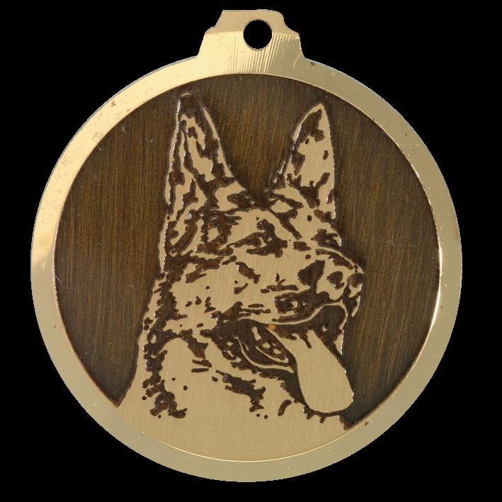 medaille chien berger allemand