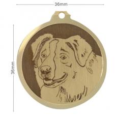 medaille chien berger australien