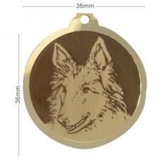 medaille chien berger belge