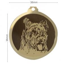 medaille chien berger briard