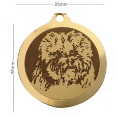 medaille chien bichon frise