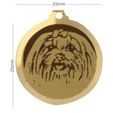 medaille chien bichon maltais
