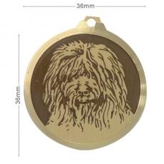 medaille chien bobtail