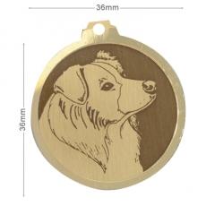 medaille chien border collie