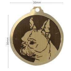 medaille chien boston terrier