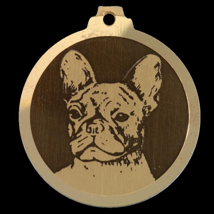medaille chien bouledogue francais