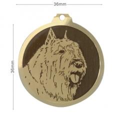 medaille chien bouvier des flandres oreilles coupees