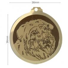 medaille chien bouvier des flandres oreilles longues