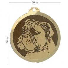 medaille chien boxer oreilles longues
