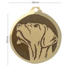 medaille chien braque allemand