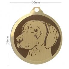 medaille chien braque de weimar