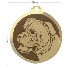medaille chien bull mastiff