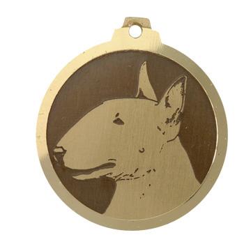 medaille chien bull terrier