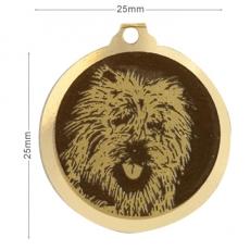 medaille chien cairn