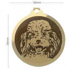 medaille chien caniche moyen