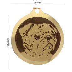medaille chien carlain