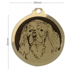 medaille chien cavalier king charles