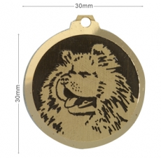 medaille chien chow chow