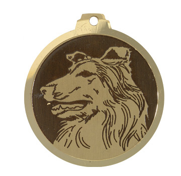 medaille chien colley