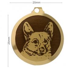 medaille chien corgi