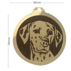 medaille chien dalmatien
