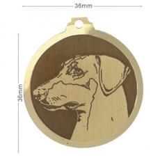 medaille chien doberman oreilles longues
