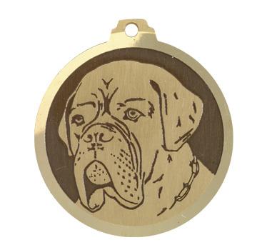 medaille chien dog de bordeaux