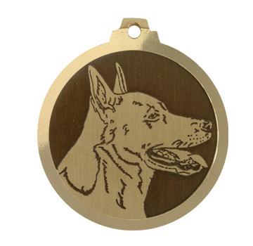 medaille chien dogue de canaan