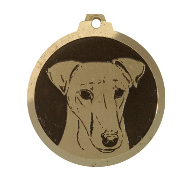 medaille chien fox terrier poils lisses