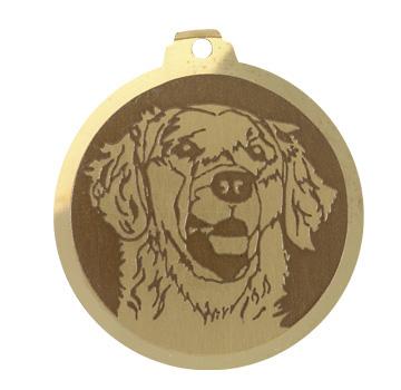 medaille chien golden retriever