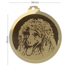 medaille chien grand caniche