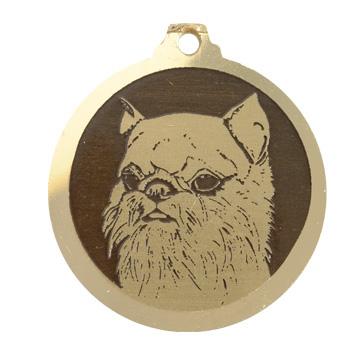 medaille chien griifon bruxellois