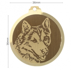 medaille chien husky