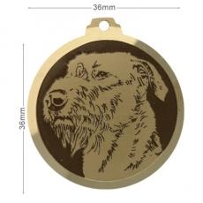 medaille chien irish wolfhound