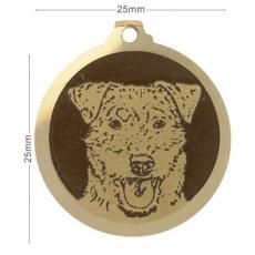 medaille chien jagd terrier