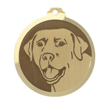 medaille chien labrador