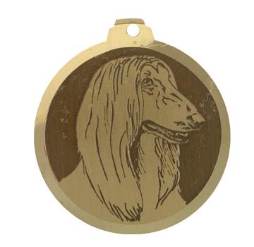medaille chien levrier afgan