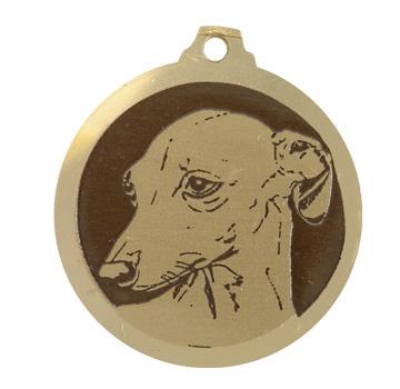 medaille chien levrier italien