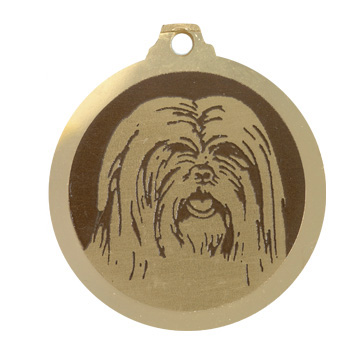 medaille chien lhassa apso