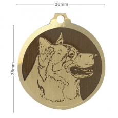 medaille chien malamute