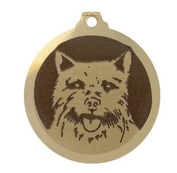 medaille chien norwich terrier