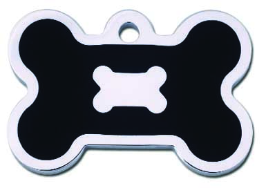 medaille chien os noir