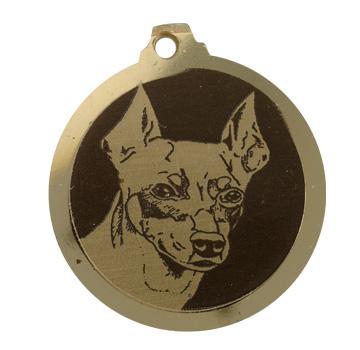 medaille chien pincher