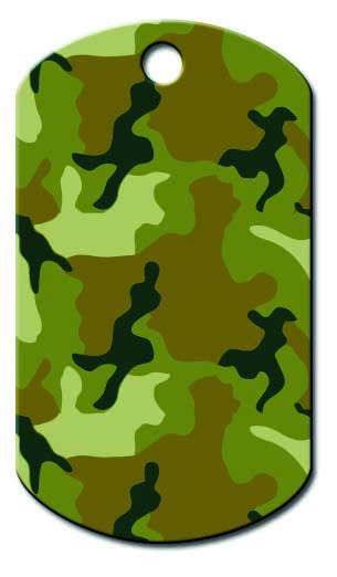 medaille chien plaque militaire kaki